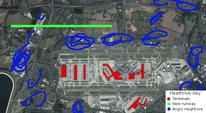 London Heathrow New Proposed Runway