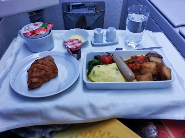 Breakfast on Korean Air