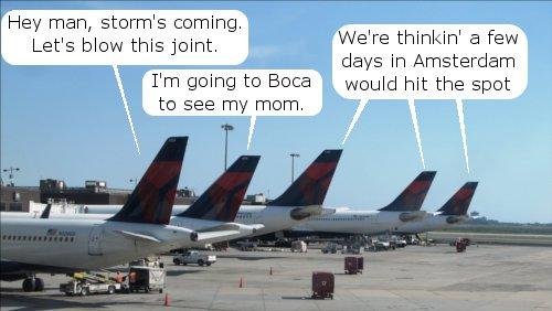 Delta Planes Leave JFK