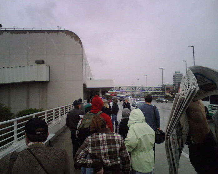 Security Lines Outside the Terminal