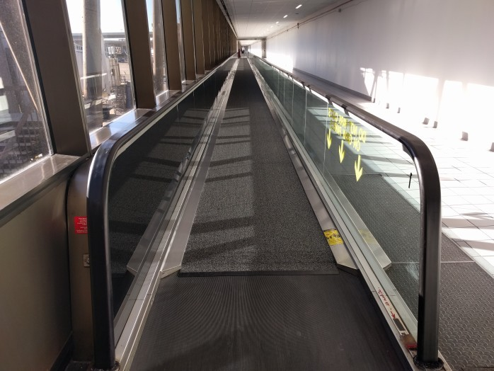 Carpet Covered Moving Walkways DFW