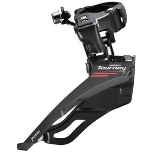 Shimano Front Derailleur, FD-A073 Band-Type 34.9MM (w/31.8 & 28.6MM Adapter) CS Angle:63-66, for TRIPLE ChainWheel