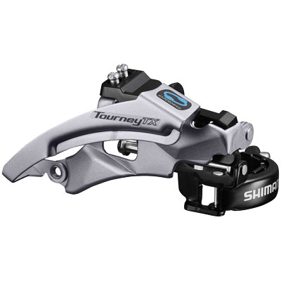 Shimano Front Derailleur, FD-TX800-TS6, TOURNEY TX, Top-Swing,DUAL-Pull Band-Type 34.9MM(w/31.8MM & 28.6MM Adapter) CS-Angle:66-69, for 42/48T,CL:47.5/50MM