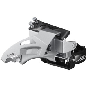 Shimano Front Derailleur, FD-M315-TS, Altus, 2X7/8, Top-Swing, DUAL-Pull, 34.9MM Band Type(w/31.8 & 28.6MM Adapter) for 36T,CS-Angle:64-69, CL:48.8/51.8MM