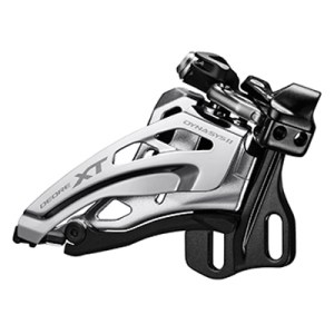 Shimano Front Derailleur, FD-M8020-E, Deore XT, for 2X11, E-Type(w/o BB Plate),Side-Swing, Front-Pull, CS-Angle: 66-69