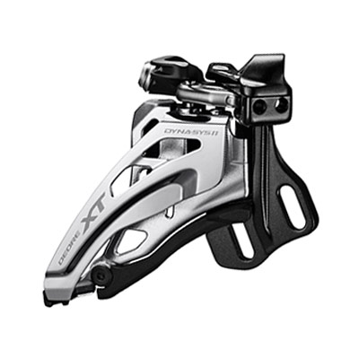 Shimano Front Derailleur, FD-M8025-E, Deore XT, for 2X11, E-Type(w/o BB Plate), Top-Swing, Down-Pull, CS-Angle: 66-69