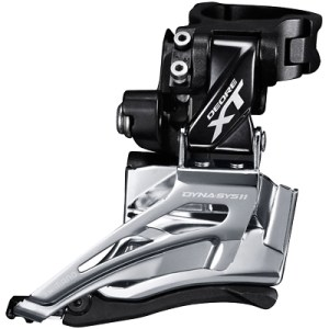 Shimano Front Derailleur, FD-M8025-H, Deore XT, for 2X11, HIGH CLAMP, Down-Swing,DUAL-Pull, Band-Type 34.9MM (w/28.6&31.8MM ADPT), CS-Angle:66-69