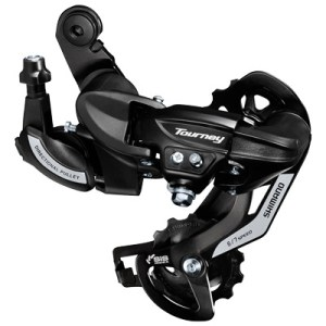 Shimano Rear Derailleur, RD-TY500, TOURNEY, 6/7-Speed, Direct Attachment Type, w/ Wheel Type Cable GUIDE