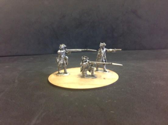Dismounted British Dragoons firing