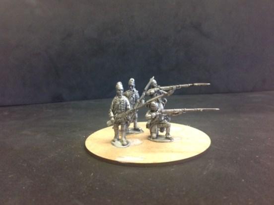 Fusiliers de Morliere skirmishing.