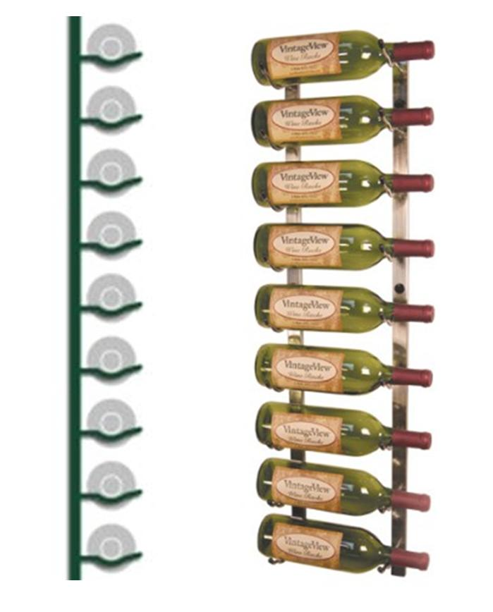 wall mounted wine rack 9 bottles