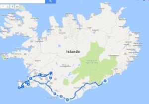 Itinéraire une semaine en Islande en hiver