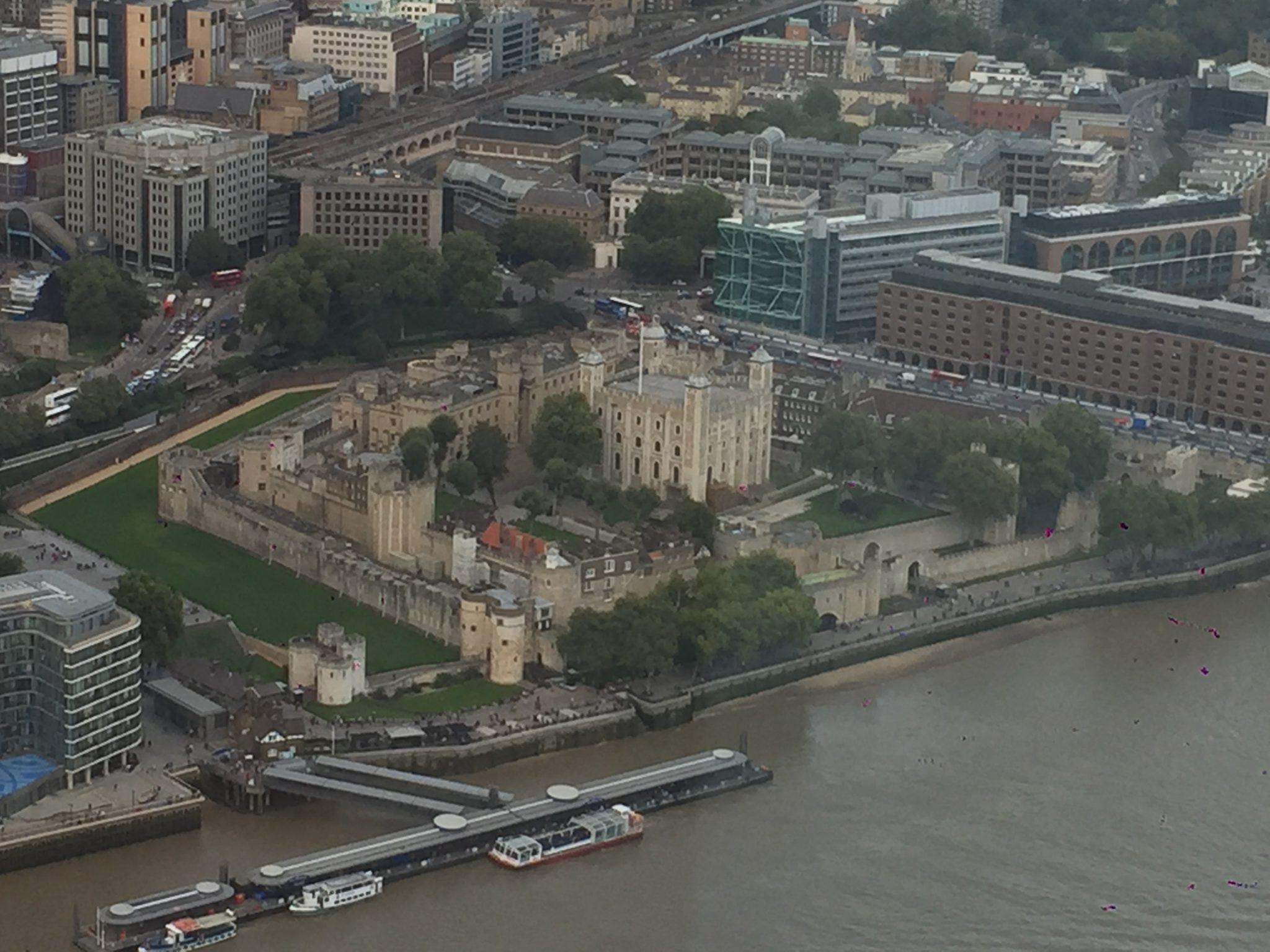 La tour de Londres depuis le Shard
