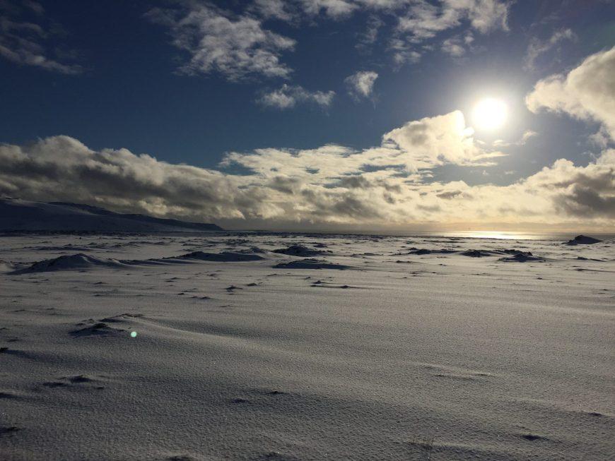 Paysage Islande en hiver