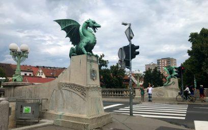 Pont des dragons Ljubljana Slovenie