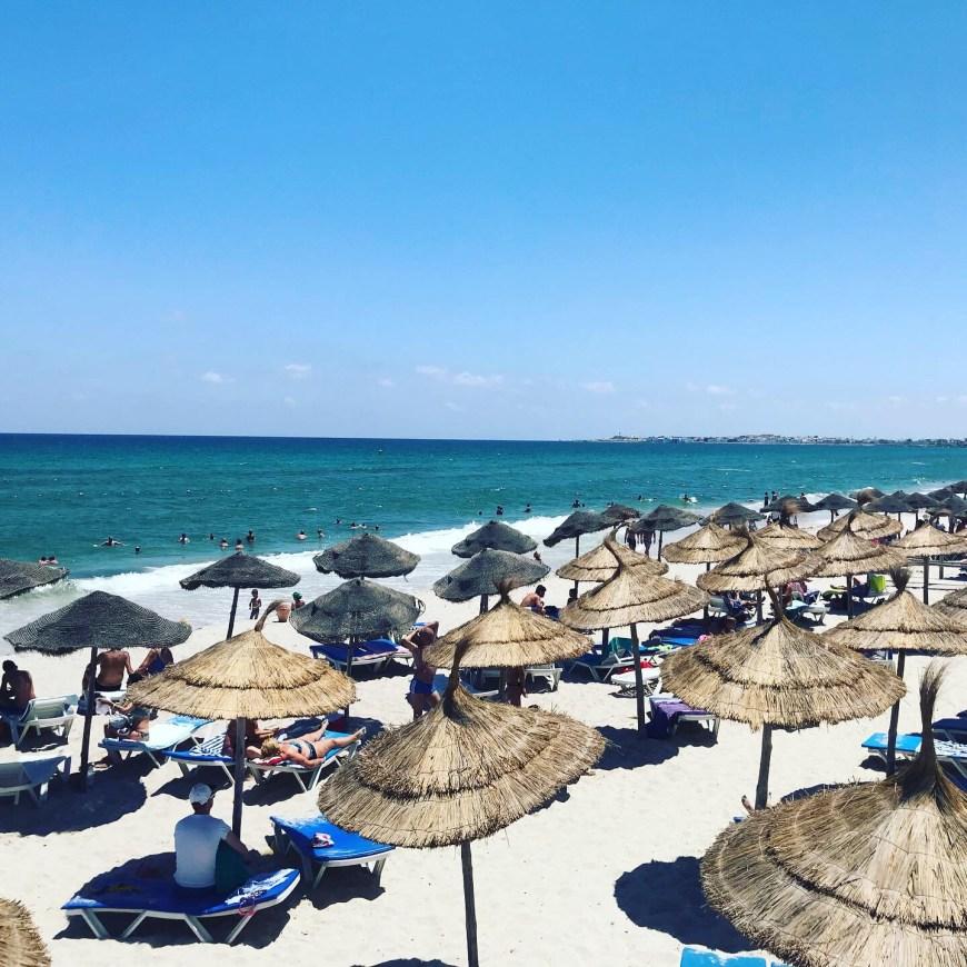 Tunisie en famille all Inclusive: la plage de l'hôtel