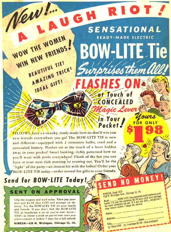 Blog boing boing theres a proper treasure trove of great old gag ads linked off this vintage ads group post but get a load of that bow tie and get a load of that awesome fandeluxe Choice Image