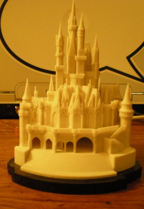 3D printed Cinderella's Castle from Disney / Boing Boing