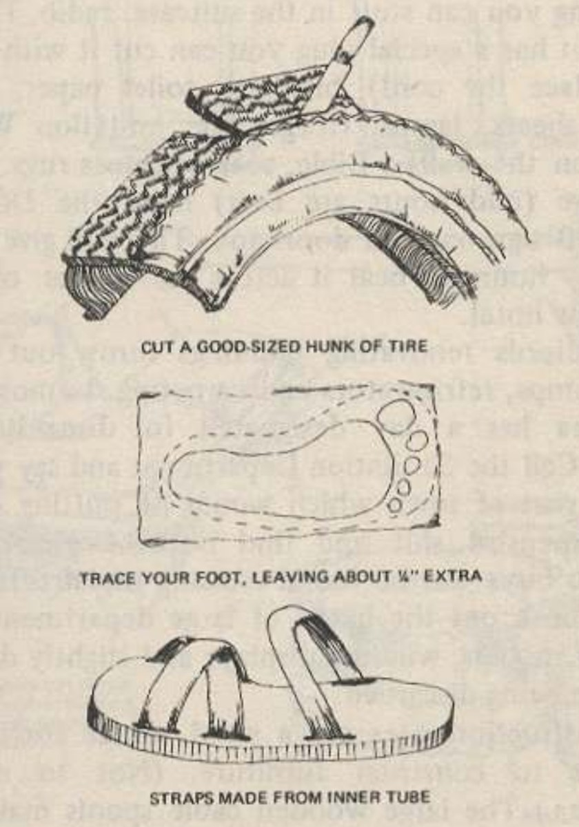 Tire-sandal illustration from Steal This Book.