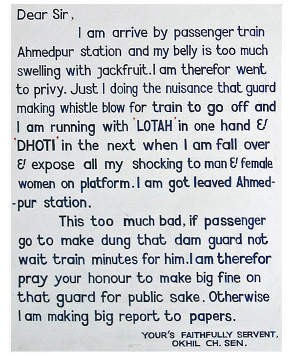 Complaining Letter That Got Toilets Installed On India S Trains