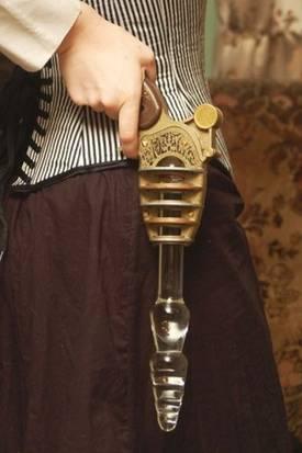 Steampunk Vibrator Pistole Giovanni haarige Muschi