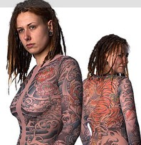 Tattoo shirts for the illusion of full body tatts boing for Tattoos on old saggy skin
