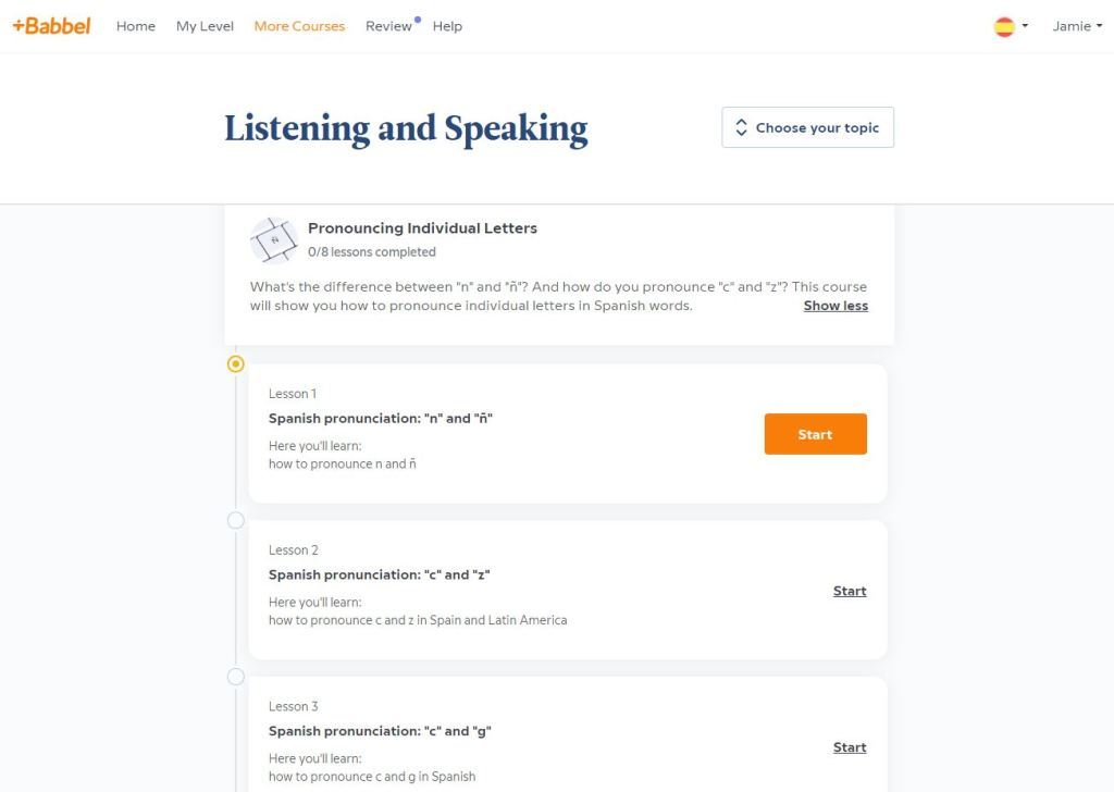 Babbel review: pronunciation lessons