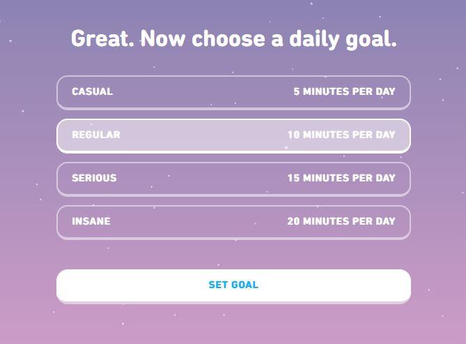 Duolingo vs Rosetta Stone: Duolingo lessons don't take very long