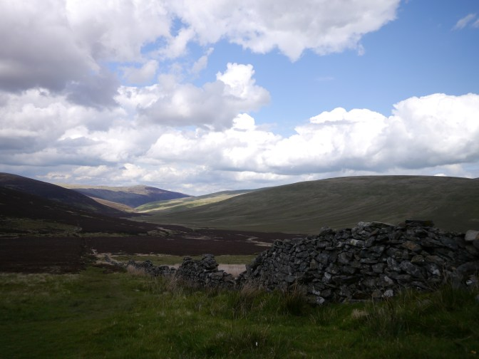 View of the descent from Skiddaw house