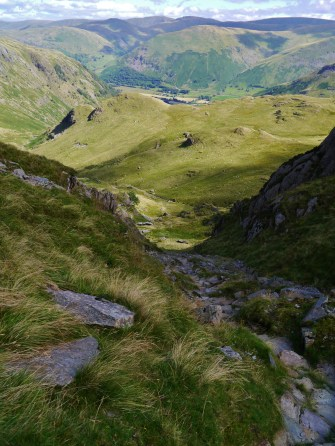 The way up to Dove Crag