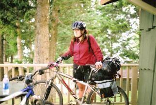 Early cycle touring with my best friend, Invermere BC, 19 years old