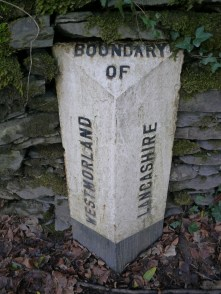 Old boundary sign, still in Cumbria