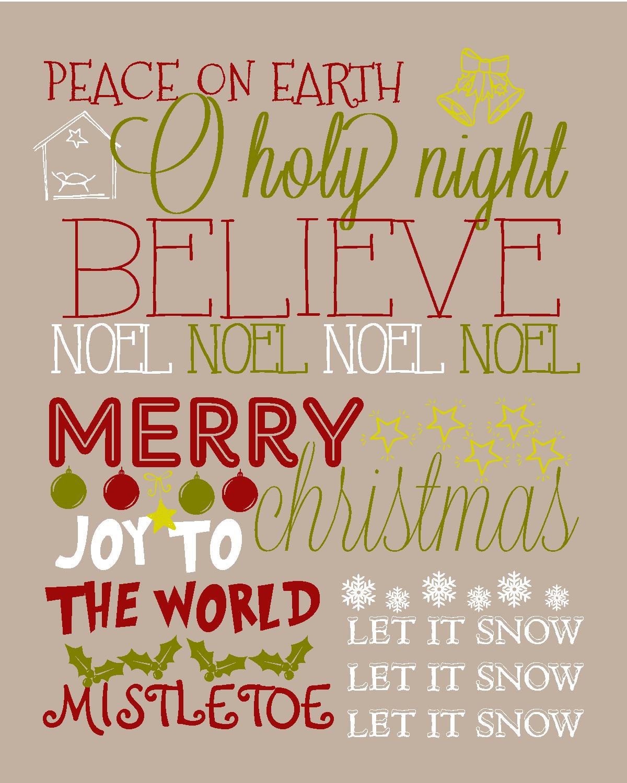 Friday Reader Christmas Subway Art