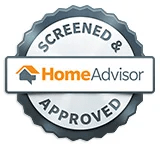 """Home Advisor """"screened & approved"""" contractor emblem"""