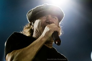 Brian Johnson of AC/DC at Western Springs Stadium, Auckland, December 15th, 2015