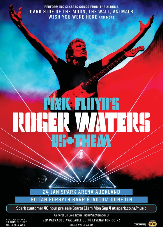 roger waters us them tour to  e to new zealand in