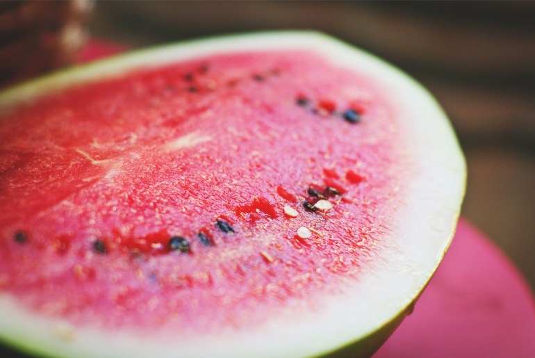 Alton Brown shows us how to juice a watermelon