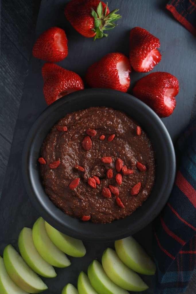 Brownie batter dessert hummus recipe_3