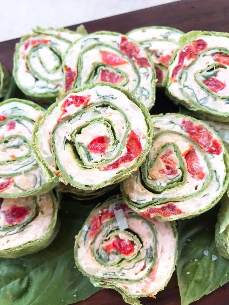 Caprese salad 10 different ways_ caprese-pinwheel-roll-ups-threeolivesbranch-6-768x1024