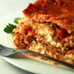 Classic 3 cheese lasagna with meat sauce recipe