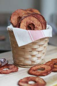 Delightfully crispy apple cinnamon chips
