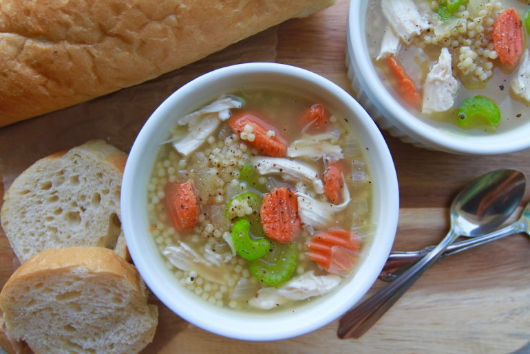 Easy 20-minute Bone Broth Chicken Noodle Soup3