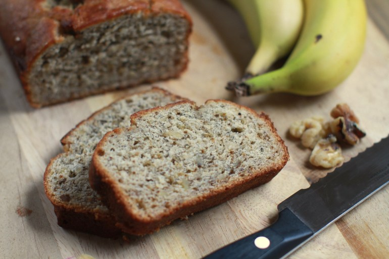 Easy banana bread recipe in under an hour
