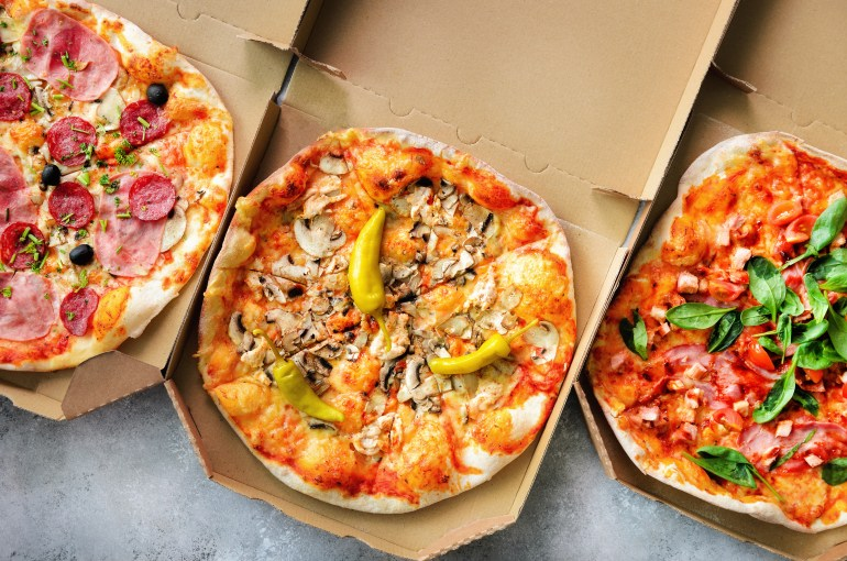 Get free pizza delivered to you if you're stuck in a long line on voting day
