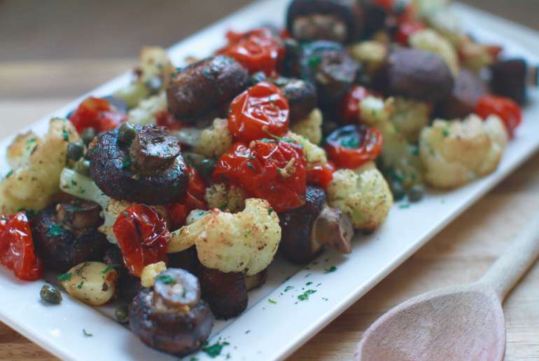 Italian roasted tomatoes and veggies