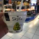 Icelandic skyr is a yogurt-like dairy product, but is technically considered a cheese. Skye tastes like a cross between Greek yogurt and soft-serve. Eat it everywhere you can. It's delicious.