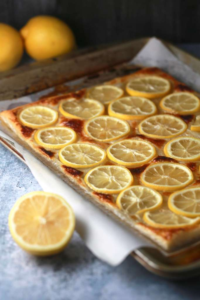 lemon puff pastry tart