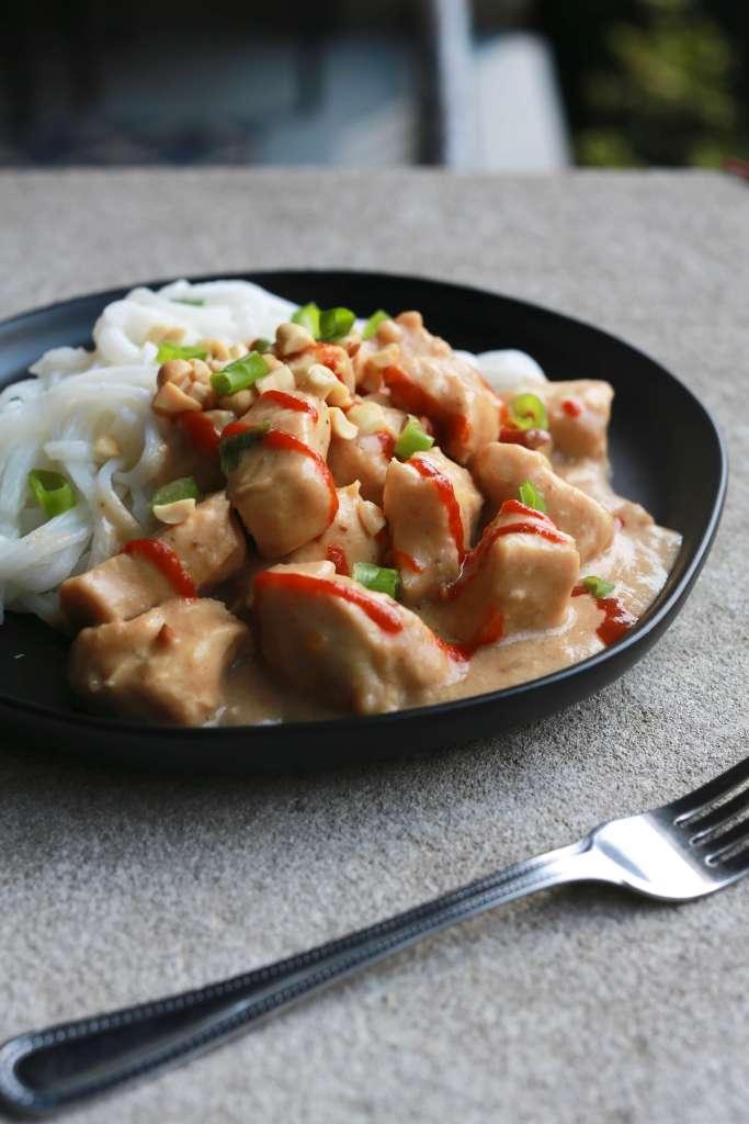 Saucy Slow Cooker Thai Peanut Chicken