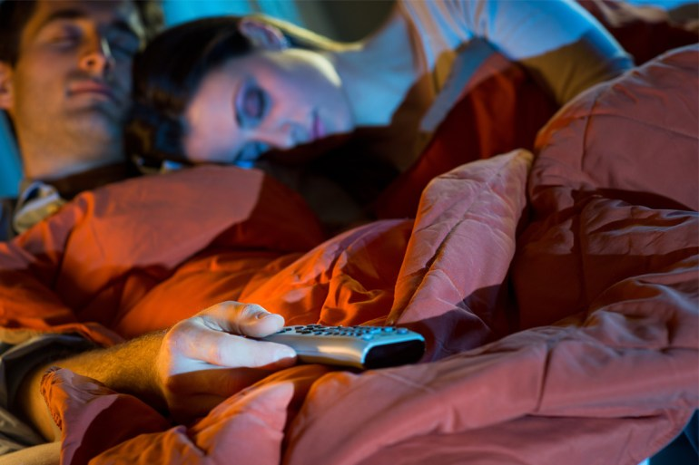Sleeping with the television on can cause you to gain weight, study shows