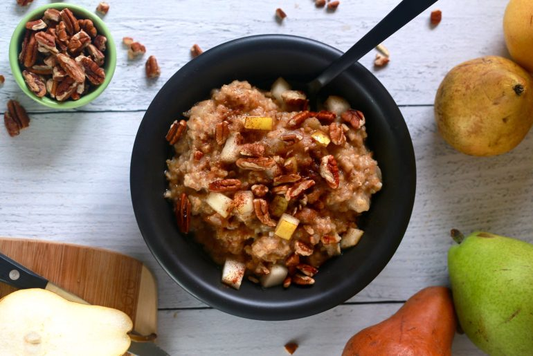 Slow cooker maple, pear, pecan oatmeal_2